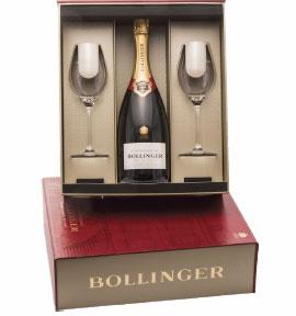 Bollinger Gift Set with Champagne Flutes