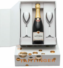 Taittinger Gift Set with Champagne Flutes